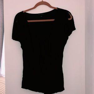 Banana republic- Black frayed t-shirt
